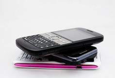 mobilen phones tre Royaltyfri Bild