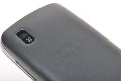 Mobilen ringer med kameran Arkivbild