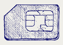 Mobilen ringer sim vektor illustrationer