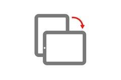 Mobilen roterar, flipskärmen, mobil roterar, flipskärmen, mobil roterar stock illustrationer
