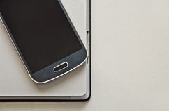 Mobilephone and laptop. Royalty Free Stock Photo