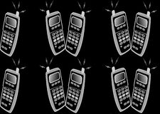 Mobiles. Makinmg a vibrant background in black Royalty Free Stock Photos