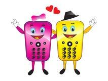 Mobiles astratti di amore con cuore Fotografia Stock Libera da Diritti