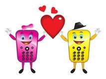 Mobiles astratti di amore con cuore Immagine Stock