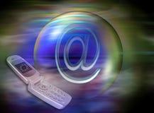 Mobiles et Internet Image stock