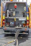 Mobiles Fernsehinspektionsfahrzeug für die Prüfung von Abwasserkanälen stockfotos