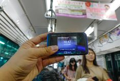 Mobiles Krisenherd Wi-Figerät stockfotos