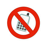 Mobiles not allowed Royalty Free Stock Photography