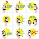 Mobilesatz Lizenzfreie Stockbilder