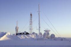 Mobilfunkanlage in Chukotka, Russland Lizenzfreie Stockfotografie