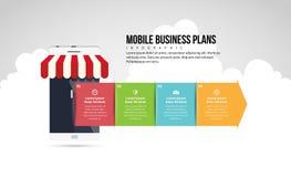 Mobilfunkgeschäft-Unternehmenspläne Infographic Lizenzfreies Stockfoto