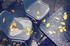 Mobilia bagnata del caffè Fotografia Stock Libera da Diritti