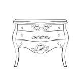 Mobilia classica con gli ornamenti di lusso reali Immagini Stock