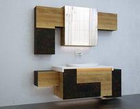 Mobilia del bagno Immagine Stock