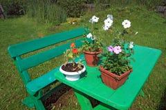 Mobilia del giardino Immagini Stock