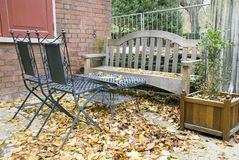 Mobilia del giardino Fotografie Stock