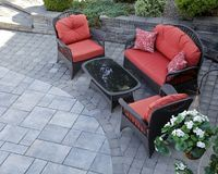 Mobilia del patio Fotografia Stock Libera da Diritti