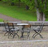 Mobilia del patio Immagine Stock