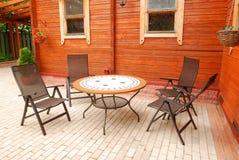 Mobilia del patio Fotografie Stock