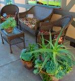 Mobilia del patio Immagini Stock