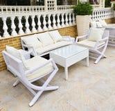 Mobilia del patio esterna Immagine Stock