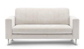 Mobilia del sofà isolata su priorità bassa bianca Immagine Stock