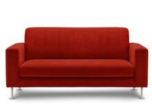 Mobilia del sofà isolata su priorità bassa bianca Fotografia Stock Libera da Diritti