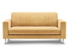 Mobilia del sofà su priorità bassa bianca Fotografia Stock Libera da Diritti