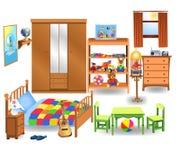 Mobilia della camera da letto Fotografie Stock Libere da Diritti