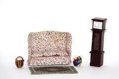 Mobilia della casa di bambola Fotografia Stock