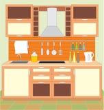 Mobilia della cucina. illustrazione di stock