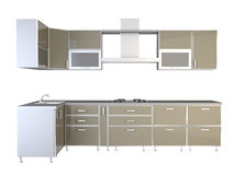 Mobilia della cucina Royalty Illustrazione gratis