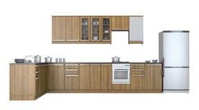 Mobilia della cucina Immagine Stock