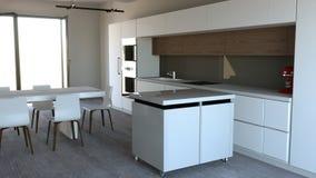 Mobilia della cucina, interior design Mobilia ed apparecchi per la cucina Fotografie Stock