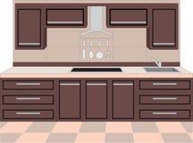 Mobilia della cucina. Interiori. royalty illustrazione gratis