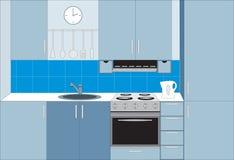 Mobilia della cucina. Interiori. illustrazione di stock