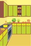 Mobilia della cucina. Interno illustrazione di stock