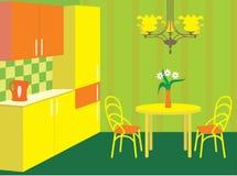 Mobilia della cucina. Interno. illustrazione vettoriale