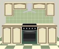 Mobilia della cucina. Interno illustrazione vettoriale