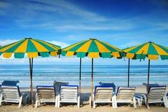 Mobilia della spiaggia Fotografie Stock Libere da Diritti