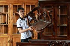 Mobilia di legno Fotografia Stock Libera da Diritti