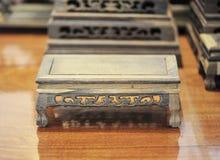 Mobilia di legno antica Immagine Stock