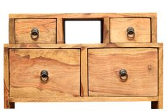 Mobilia di legno d'annata fotografia stock