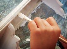 Mobilia di legno della pittura Fotografie Stock Libere da Diritti