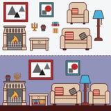 Mobilia domestica Interior design Royalty Illustrazione gratis