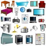 Mobilia ed apparecchi illustrazione di stock