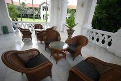 Mobilia esterna coloniale Fotografia Stock