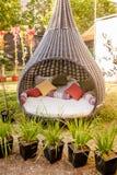 Mobilia fredda per il giardino Fotografie Stock Libere da Diritti