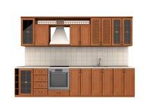 Mobilia integrata della cucina Illustrazione di Stock