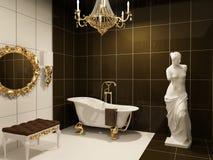 Mobilia lussuosa in stanza da bagno barrocco Fotografie Stock